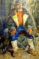 """Постников Б.А. """"Старый крестьянин"""" 69x48 1972г"""