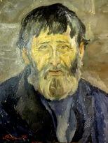 """Ф. Матанцев """"Дед Михаил"""" 47,5х35,5 1970г."""